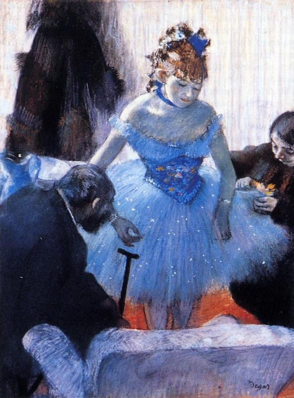 Dancer's Dressing Room by Edgar Degas