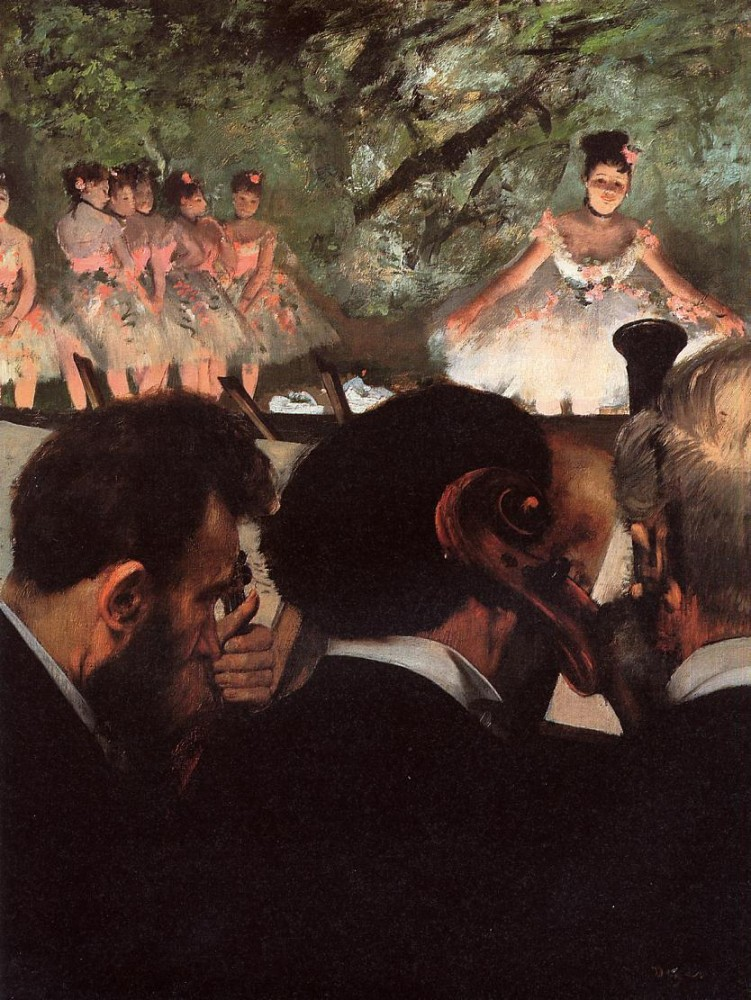 Musicians in the Orchestr - by Edgar Degas