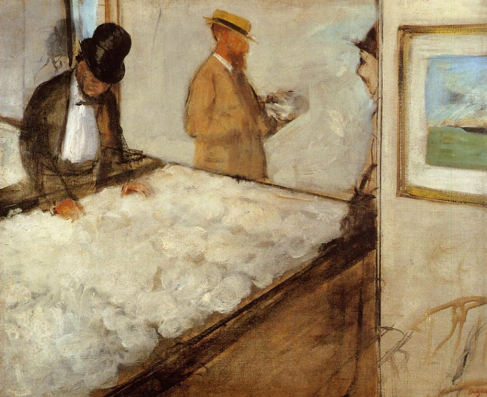 Cotton Merchants in New Orleans by Edgar Degas
