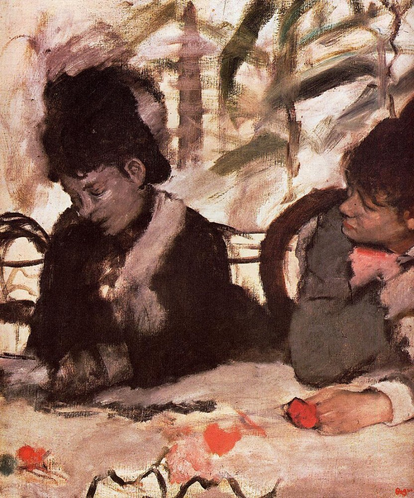 At the Cafe by Edgar Degas