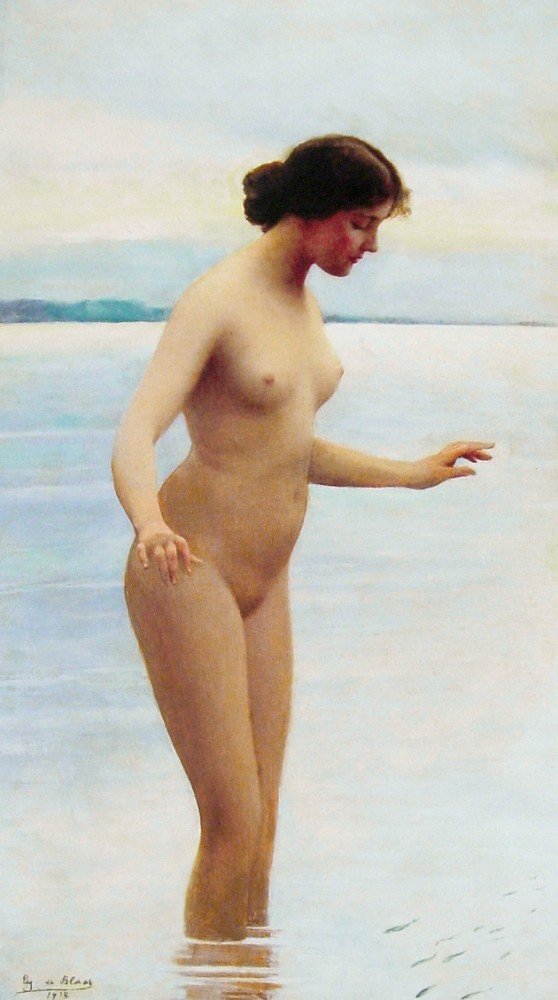 In the water by Eugene de Blaas