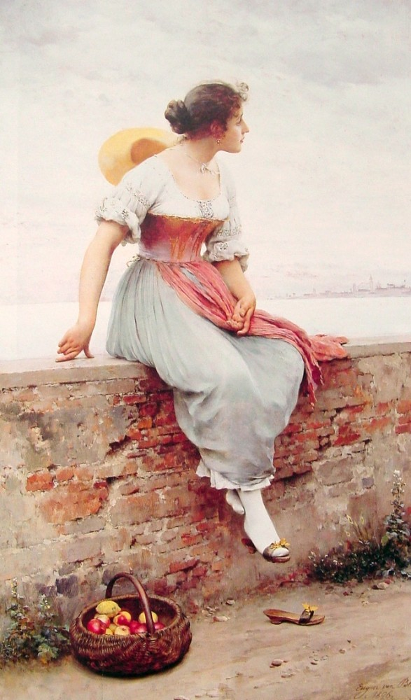 A Pensive Moment by Eugene de Blaas