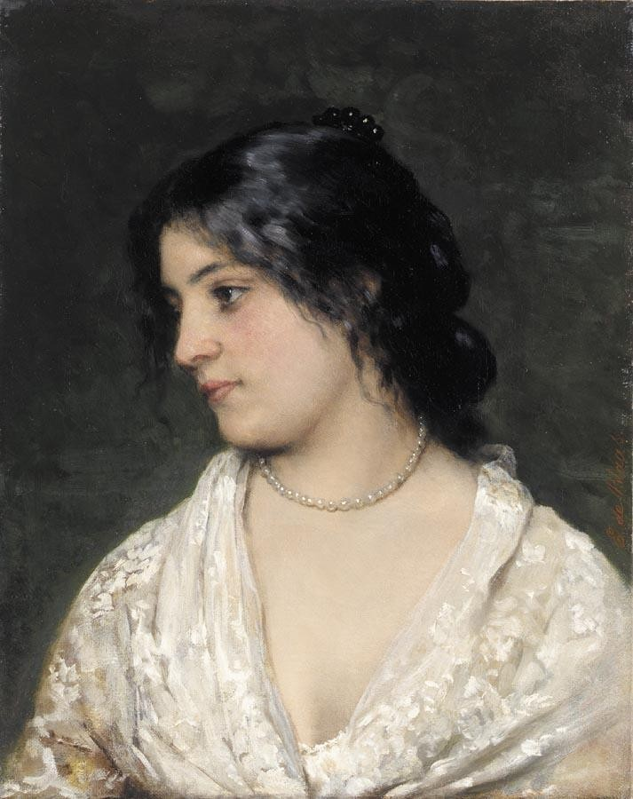 The Pearl Necklace by Eugene de Blaas