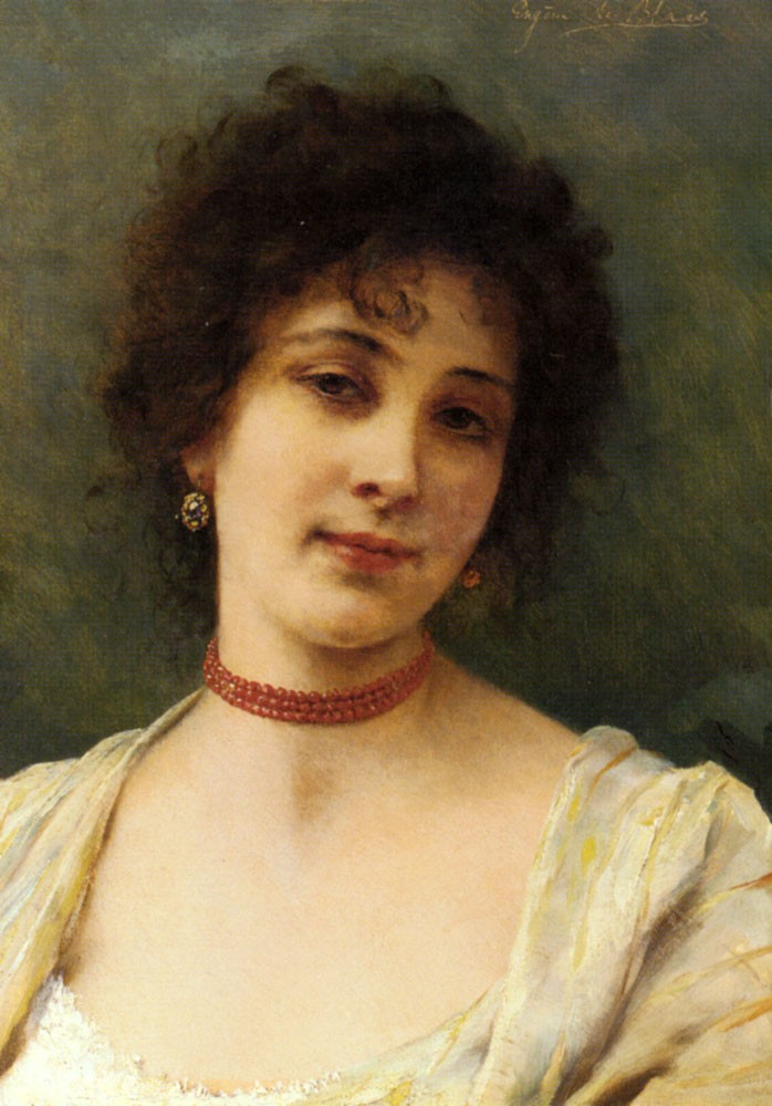 De An Elegant Lady by Eugene de Blaas