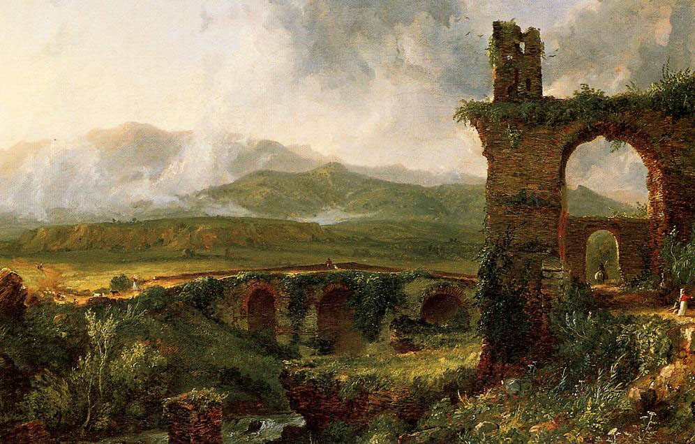 A View near Tivoli, Morning by Thomas Cole