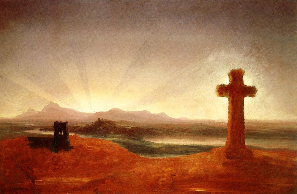 Cross at Sunset by Thomas Cole
