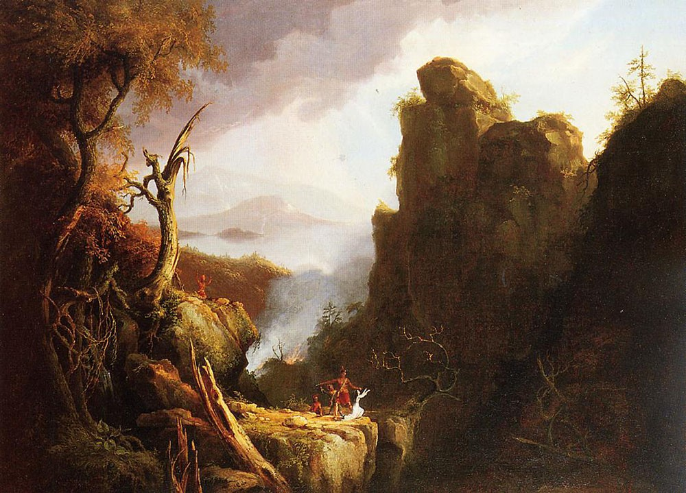 Indian Sacrifice by Thomas Cole