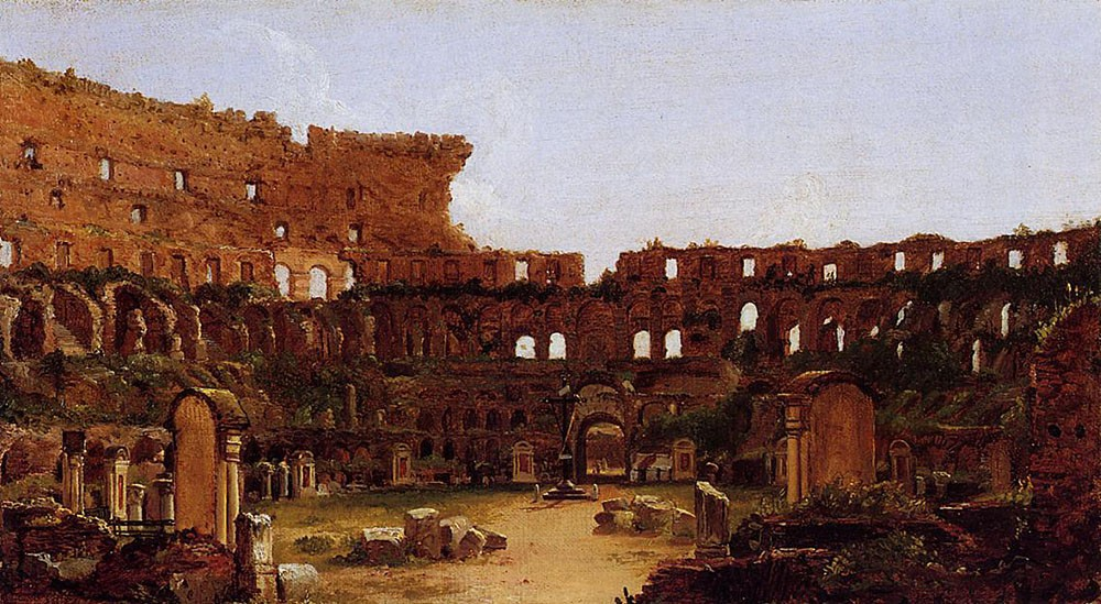 Interior of the Colosseum Rome by Thomas Cole