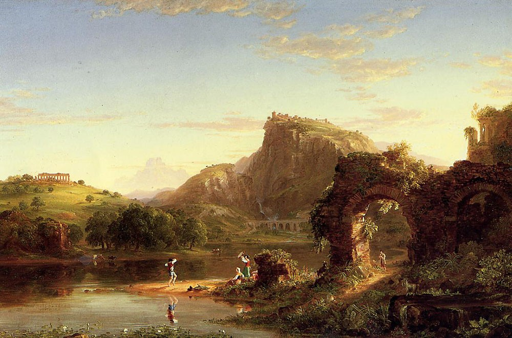 L-Allegro (Italian Sunset) by Thomas Cole