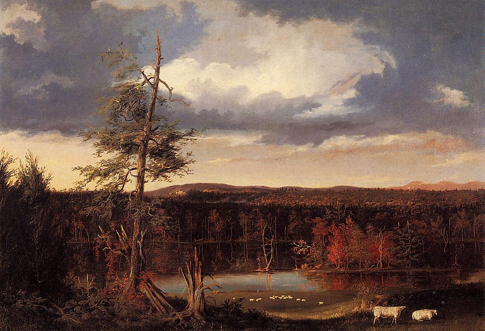 Landscape the Seat of Mr. Featherstonhaugh In The Distance by Thomas Cole
