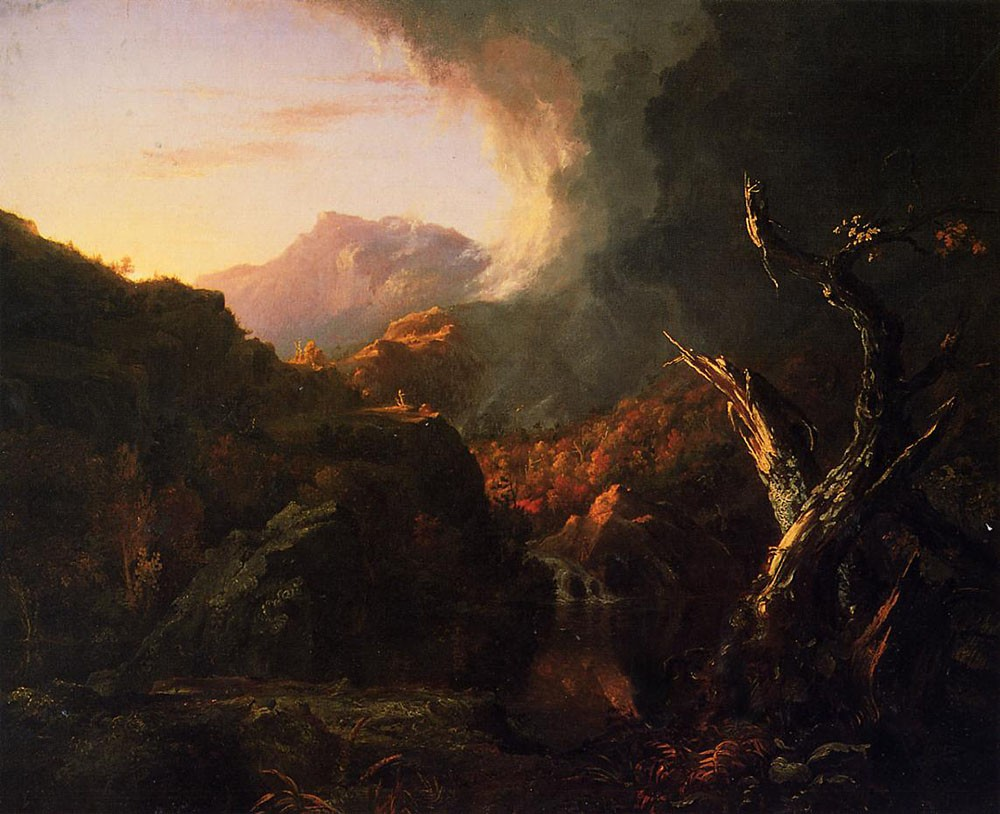Landscape With Dead Tree by Thomas Cole