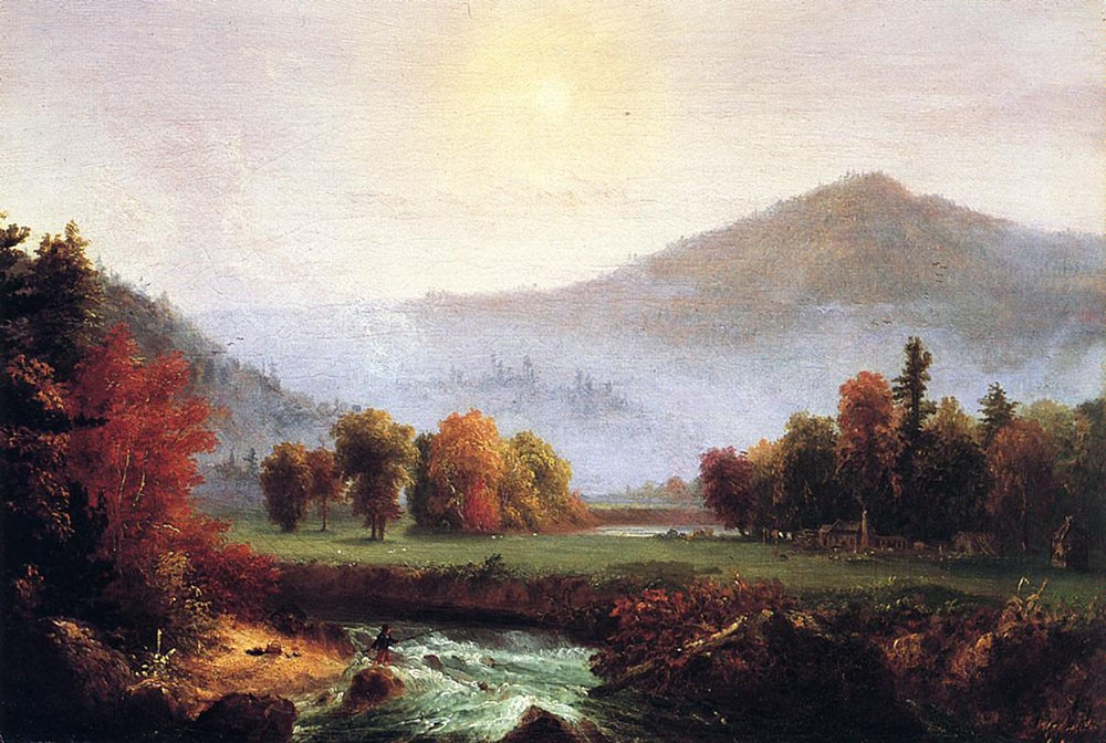 Morning Mist Rising Plymouth New Hampshire by Thomas Cole