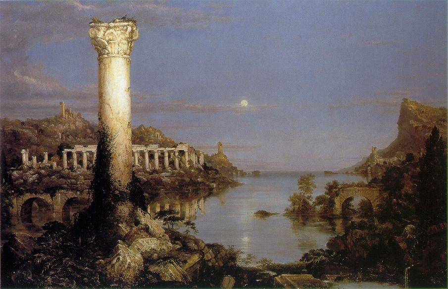 The Course Of Empire Desolation by Thomas Cole