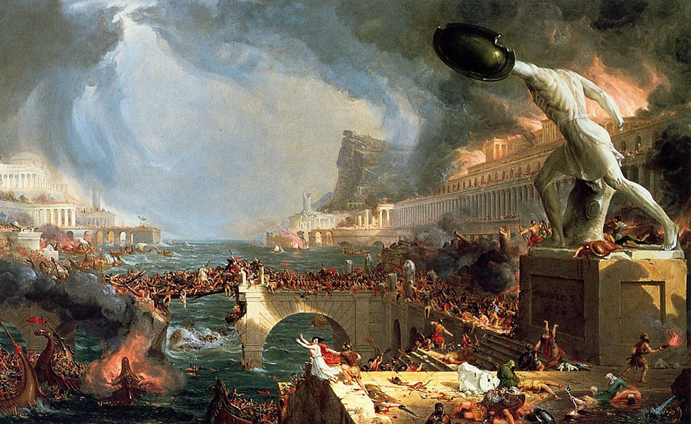 The Course Of Empire Destruction by Thomas Cole