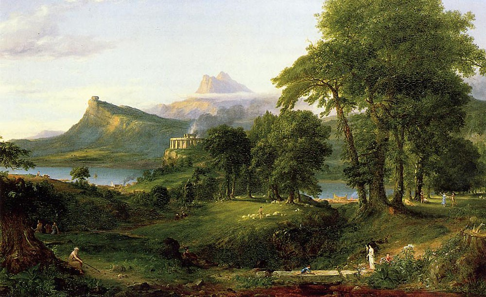 The Course Of Empire The Arcadian Or Pastoral State by Thomas Cole