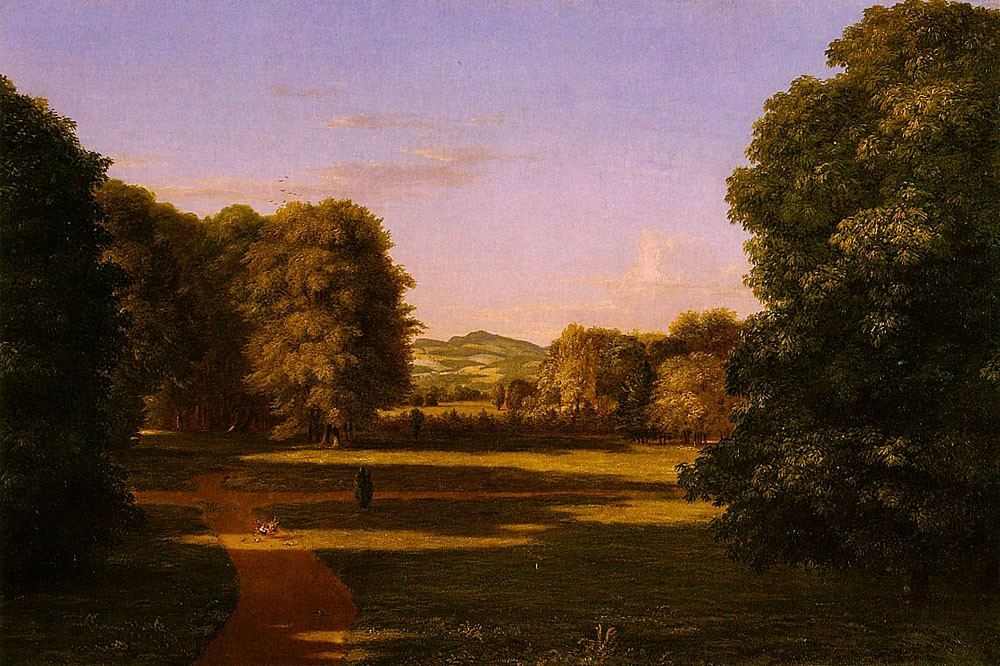 The Gardens Of The Van Rensselaer Manor House by Thomas Cole
