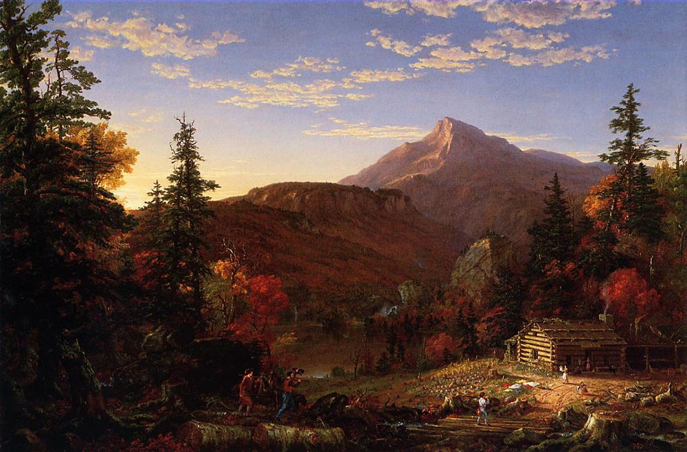 The Hunter-s Return by Thomas Cole