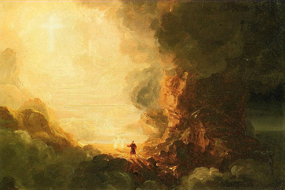 The Pilgrim Of The Cross At The End Of His Journey by Thomas Cole