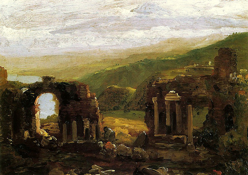The Ruins Of Taormina by Thomas Cole