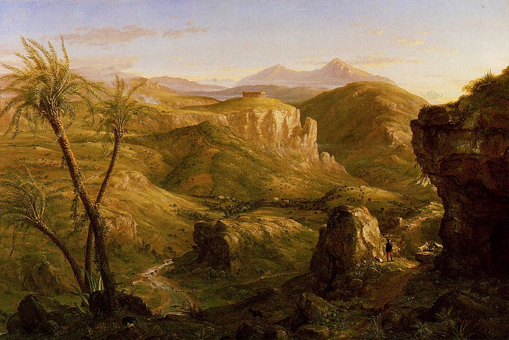 The Vale And Temple Of Segesta Sicily by Thomas Cole