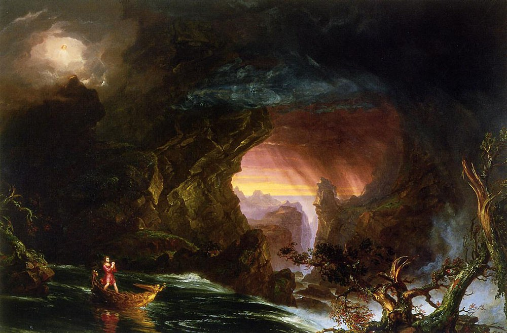 The Voyage Of Life Manhood by Thomas Cole