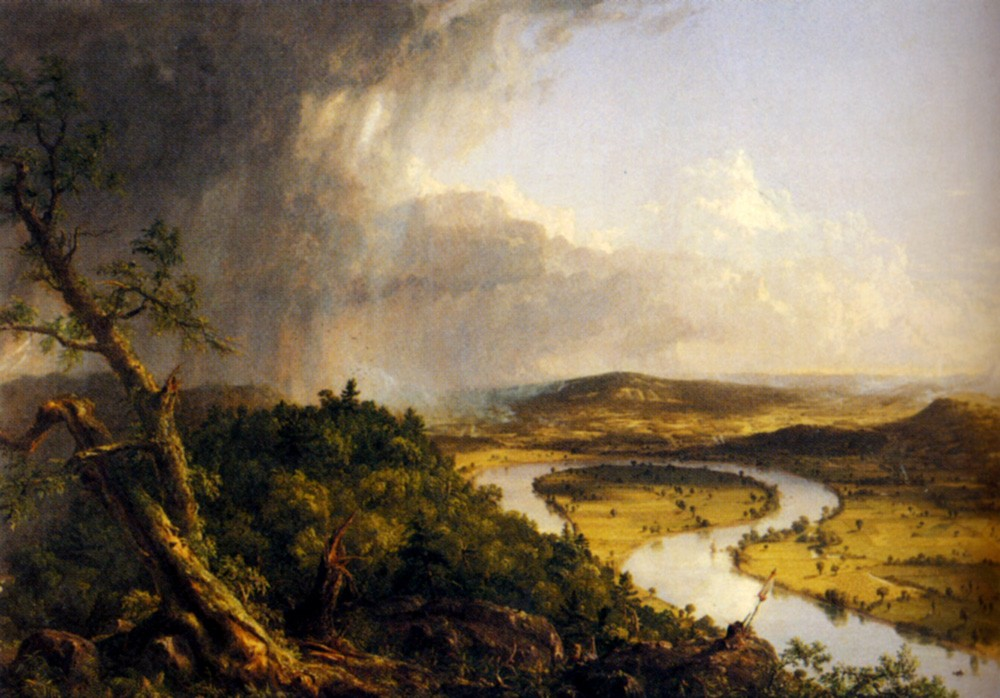 View From Mount Holyoke Northampton Massachusetts by Thomas Cole