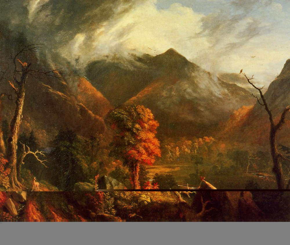 View In The White Mountains by Thomas Cole