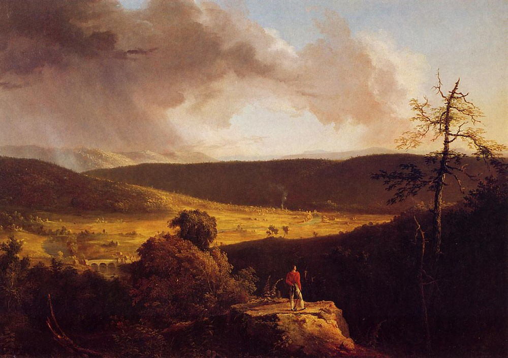 View Of L-Esperance On The Schoharie River by Thomas Cole