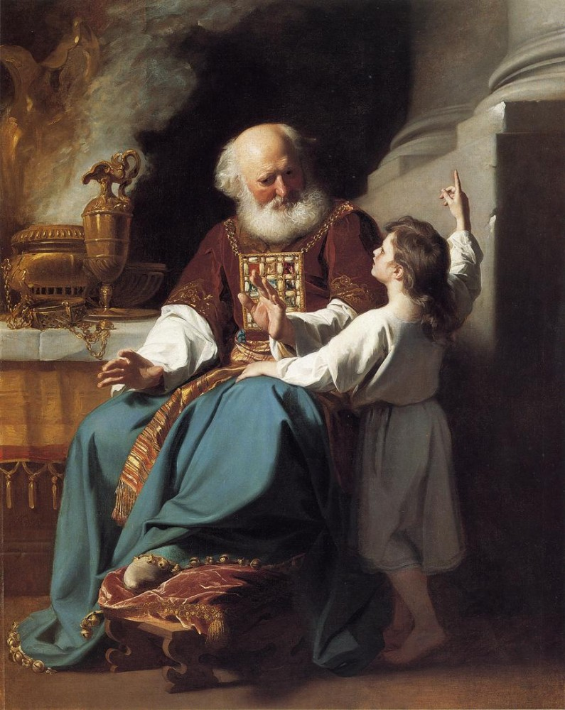Samuel Reading To Eli The Judgments Of God Upon Eli-s House by John Singleton Copley