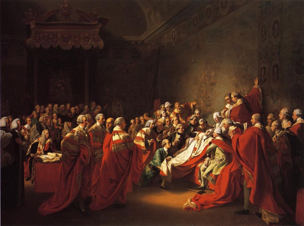 The Colapse Of The Earl Of Chatham In The House Of Lords by John Singleton Copley