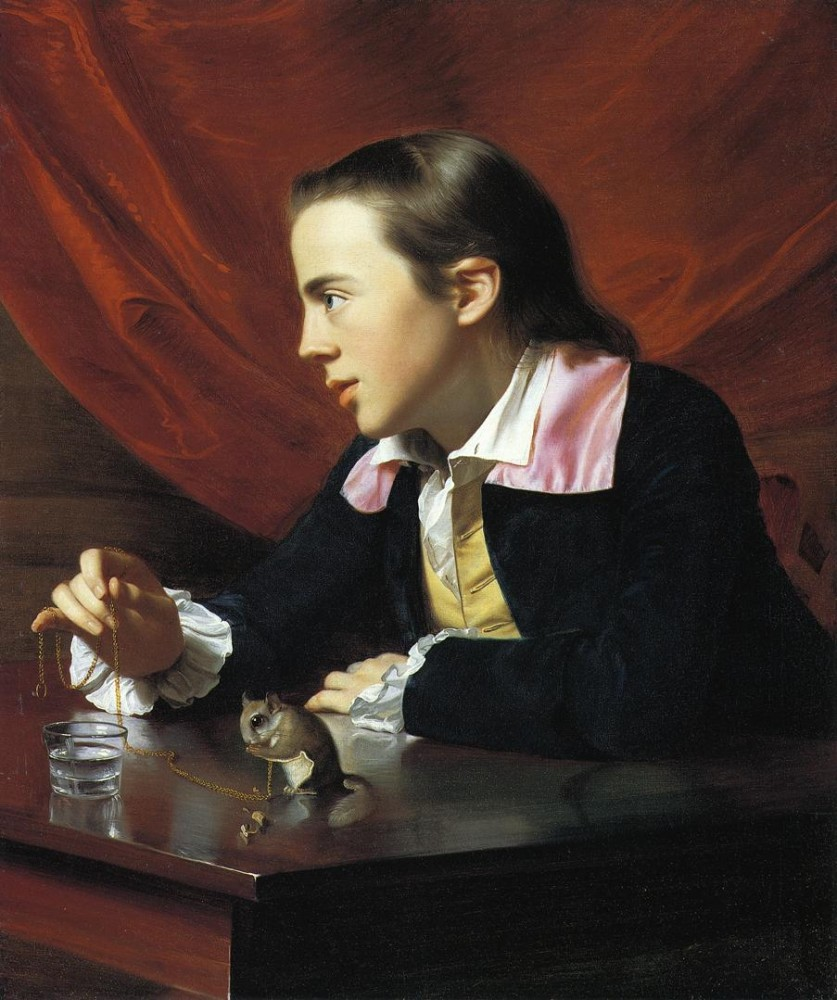 Boy With A Squirrel aka Henry Pelham by John Singleton Copley