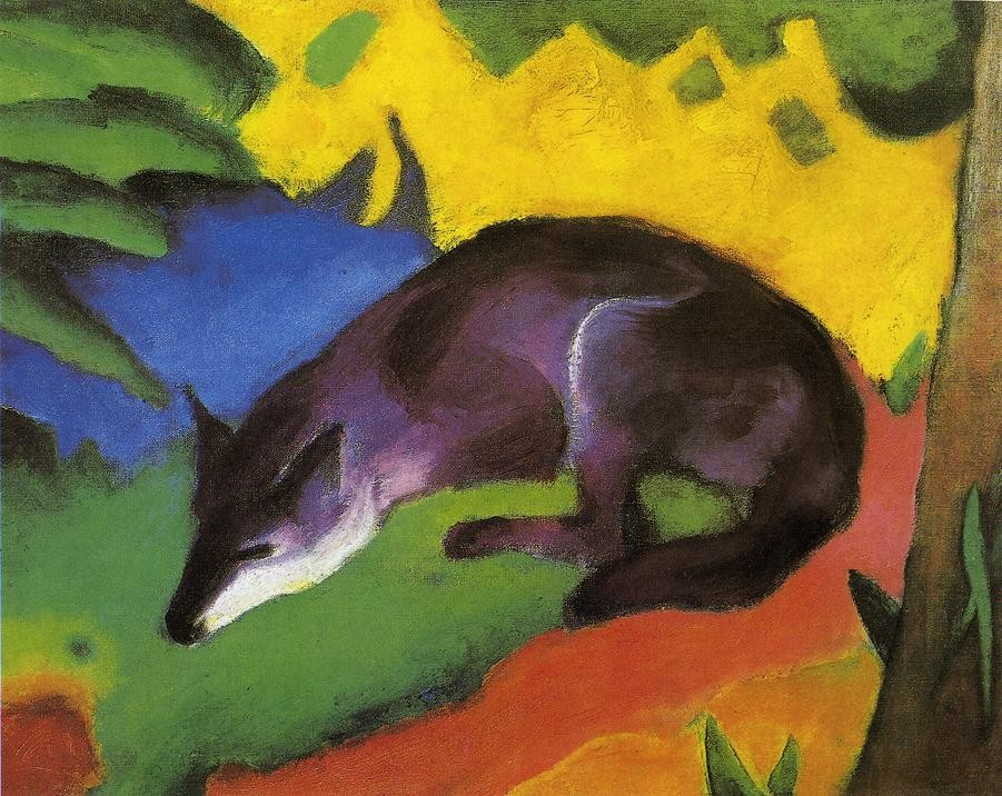 Blue Black Fox by Franz Marc