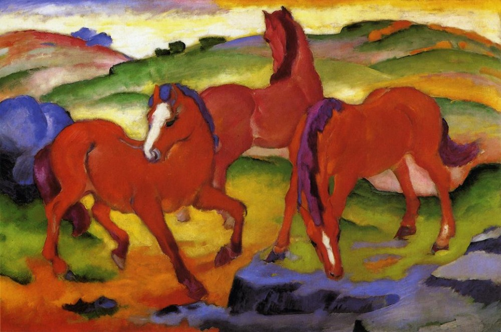 Grazing Horses Iv by Franz Marc