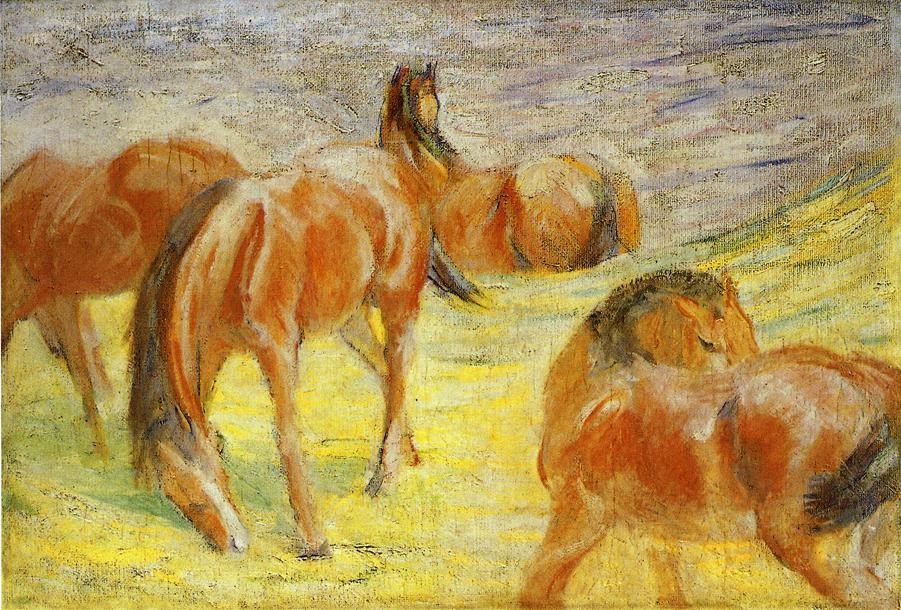 Grazing Horses by Franz Marc