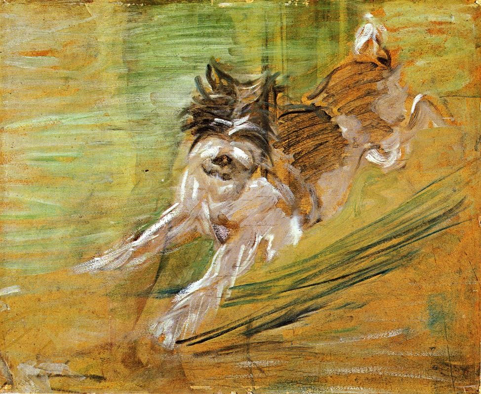 Jumping Dog Schlick by Franz Marc