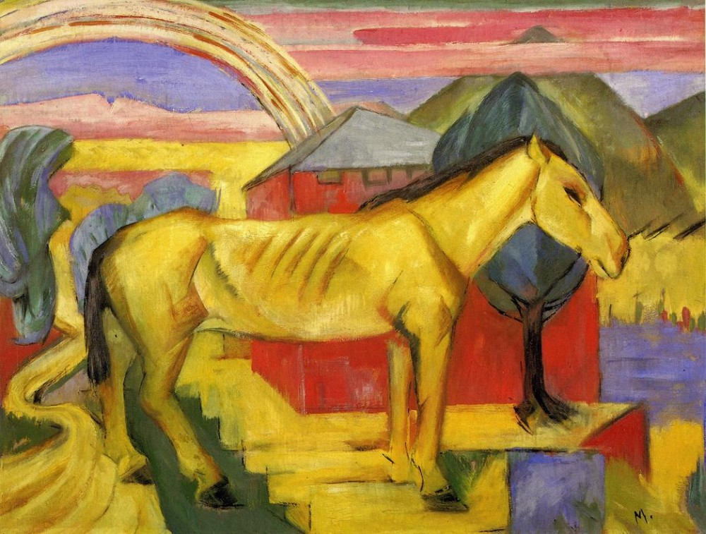 Long Yellow Horse by Franz Marc