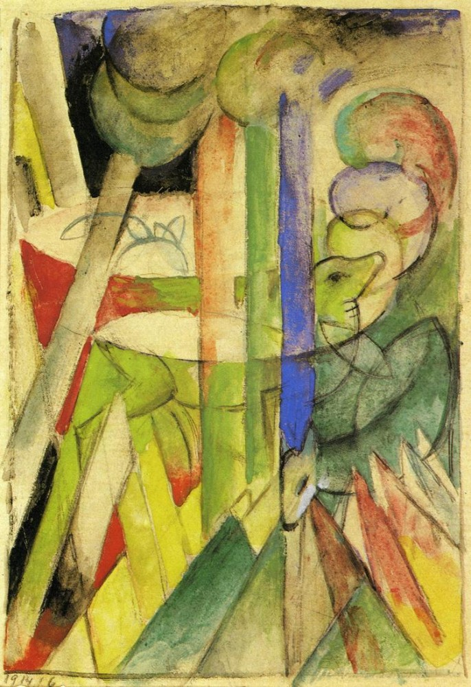 Mountain Goats by Franz Marc