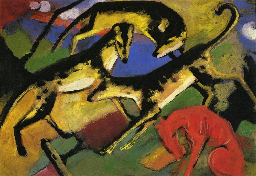 Playing Dogs by Franz Marc