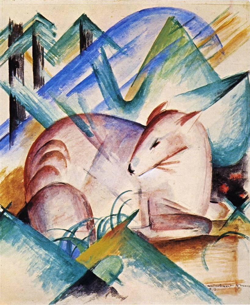 Red Deer by Franz Marc