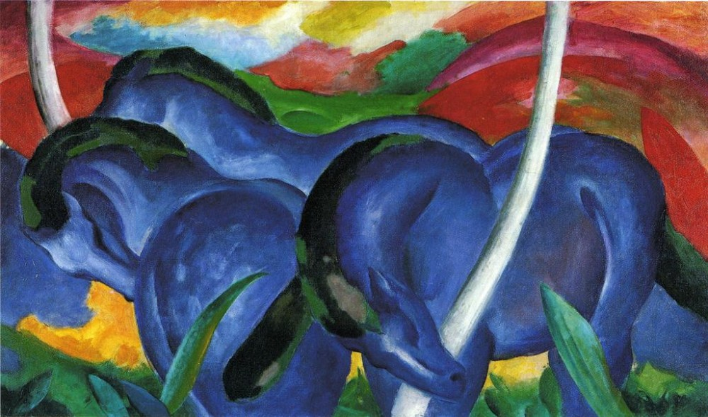 The Large Blue Horses by Franz Marc