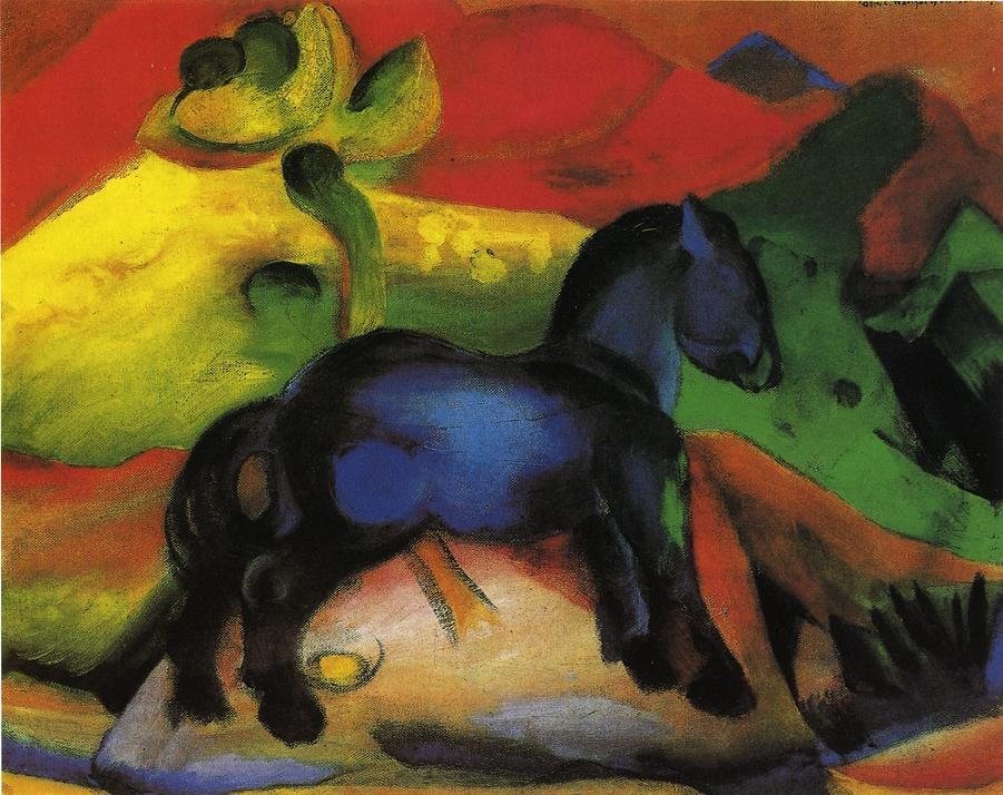 The Little Blue Horse by Franz Marc