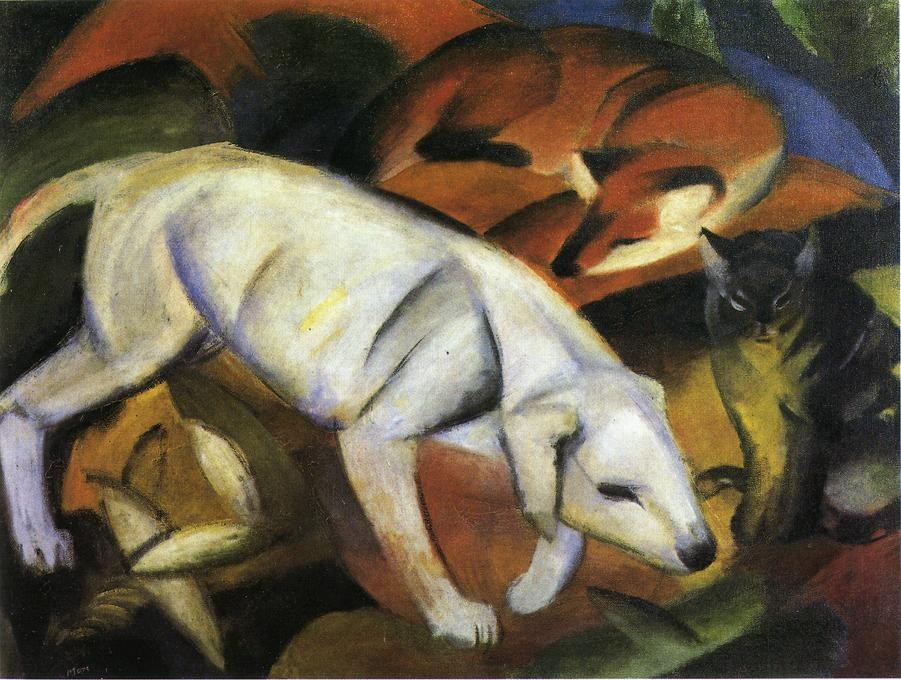 Three Animals by Franz Marc
