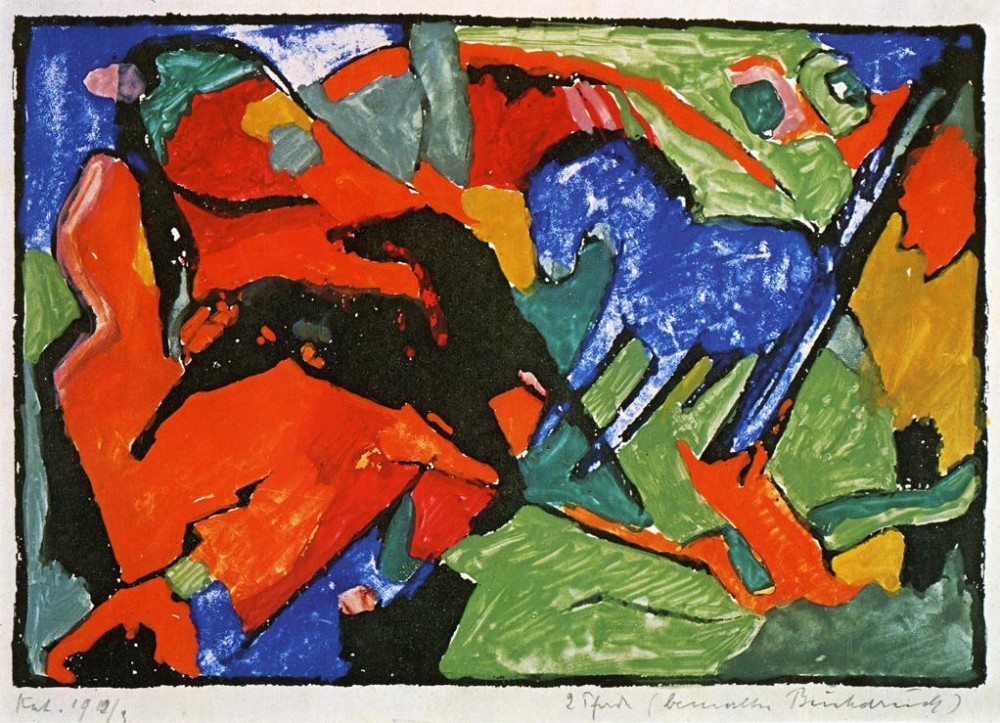 Two Horses I by Franz Marc