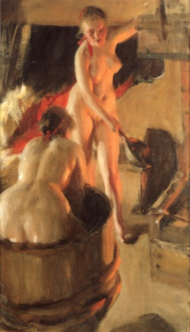 Women Bathing In The Sauna by Anders Leonard Zorn
