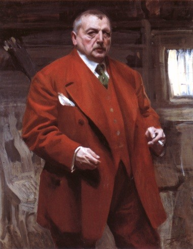 Self Portrait In Red by Anders Leonard Zorn