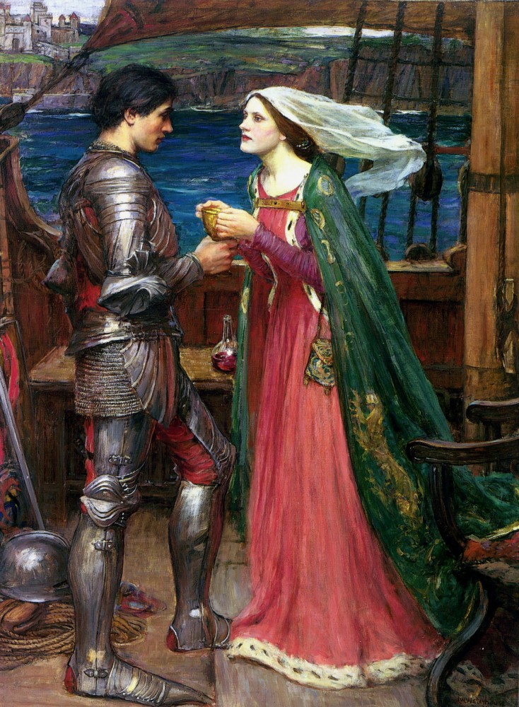 Tristan and Isolde Sharing the Potion by John William Waterhouse