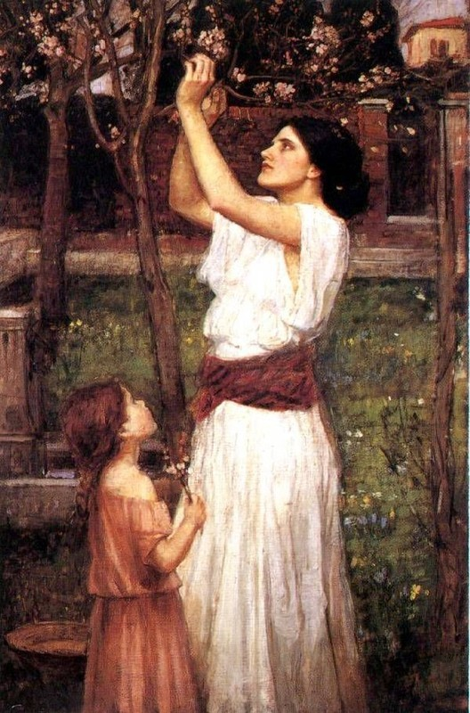 Gathering almond blossoms by John William Waterhouse