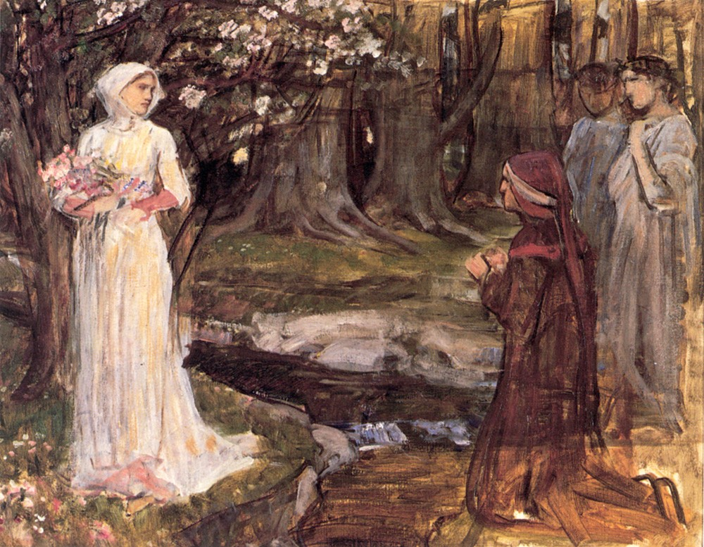 Dante and Beatrice by John William Waterhouse