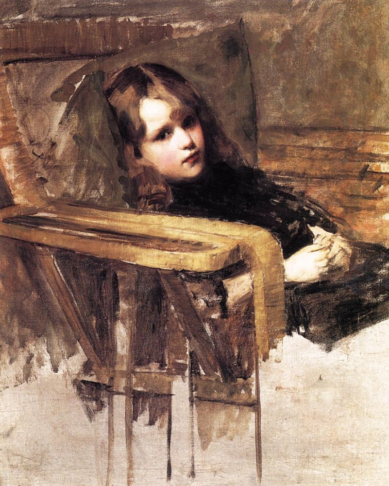 The Easy Chair by John William Waterhouse