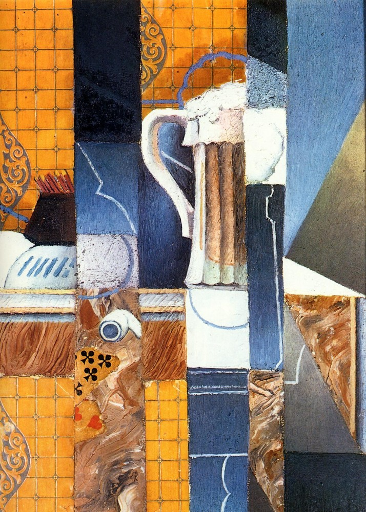 Beer Glass and Cards by Juan Gris